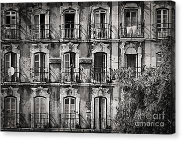 Windows And Balconies 2 Canvas Print