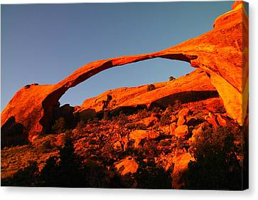 Windows Arch In The Morning Canvas Print by Jeff Swan