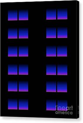 Canvas Print featuring the digital art Windows by Gayle Price Thomas