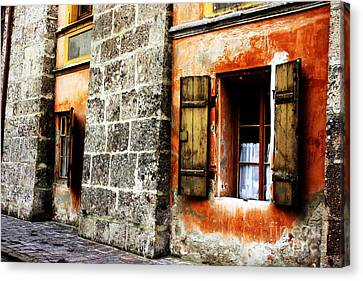 Windows Into The Past Canvas Print by Alison Tomich