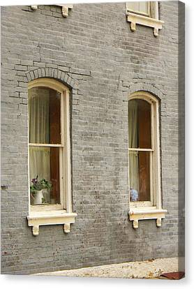 Canvas Print featuring the photograph Windows by Jean Goodwin Brooks