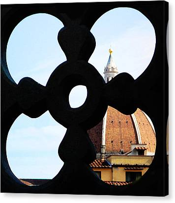 Windows Of Florence View From Ufizzi Gallery Roof Canvas Print