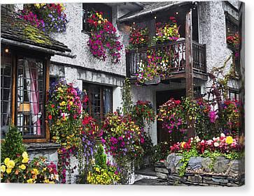 Windows Of Flowers Canvas Print