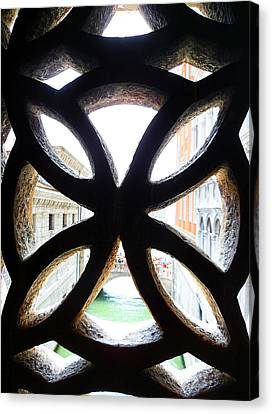 Windows Of Venice View From Palazzo Ducale Canvas Print