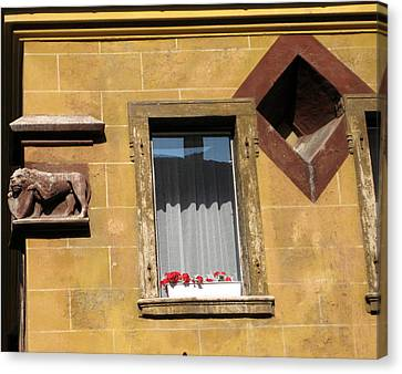 Windows To Budapest Canvas Print by Judith Morris