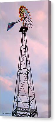 Canvas Print featuring the photograph Windpump by Brian Wallace