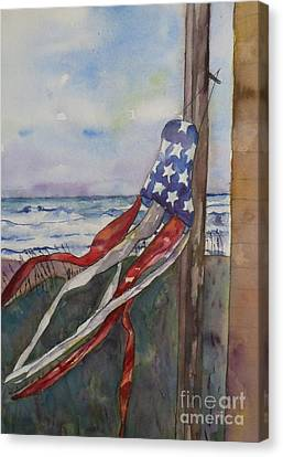 Windsock Canvas Print by Anne McMath