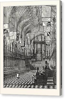 St George Canvas Print - Windsor Castle 1. St. Georges Chapel Windsor by English School