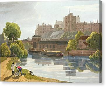 Towpath Canvas Print - Windsor Castle, From A Compilation by William Daniell