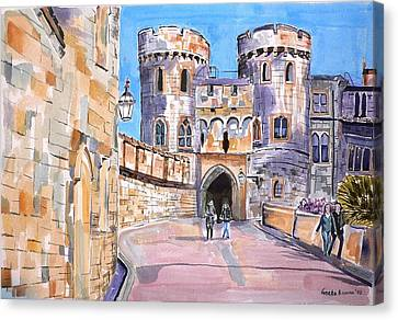 Canvas Print featuring the painting Windsor Castle by Geeta Biswas