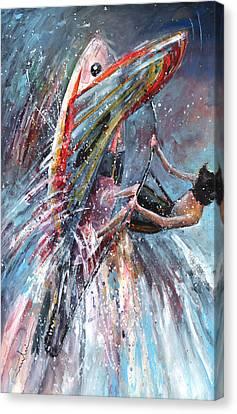 Windsurf 03 Canvas Print by Miki De Goodaboom