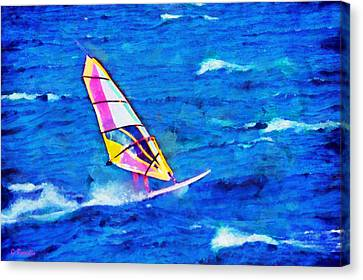 Windsurf Canvas Print by George Rossidis