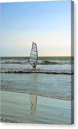 Windsurfing Canvas Print by Ben and Raisa Gertsberg