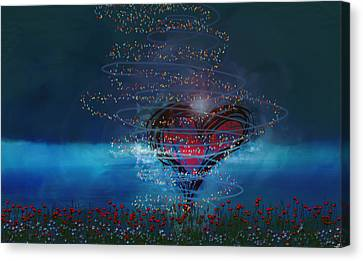 Windswept Love Canvas Print by Linda Sannuti