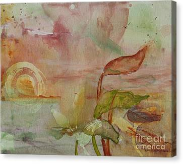Canvas Print featuring the painting Windswept by Robin Maria Pedrero