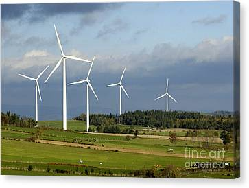 Ally Canvas Print - Windturbines by Bernard Jaubert