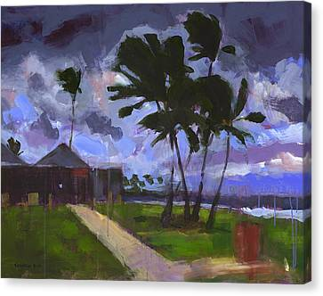 Storm Canvas Print - Windward Stormclouds by Douglas Simonson