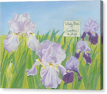 Canvas Print featuring the painting Windy Brae Gardens by Arlene Crafton