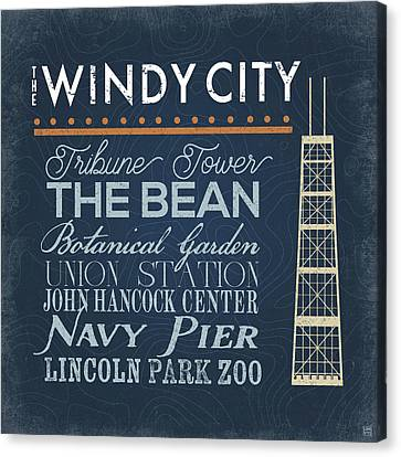 Windy City Canvas Print by Aubree Perrenoud