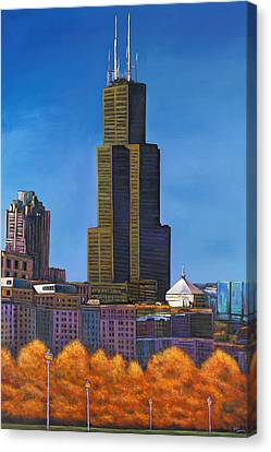 Windy City Autumn Canvas Print by Johnathan Harris