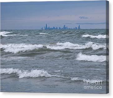 Windy City Skyline Canvas Print by Ann Horn
