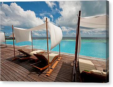 Windy Day At Maldives Canvas Print by Jenny Rainbow