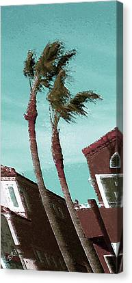 Windy Day By The Ocean  Canvas Print by Ben and Raisa Gertsberg