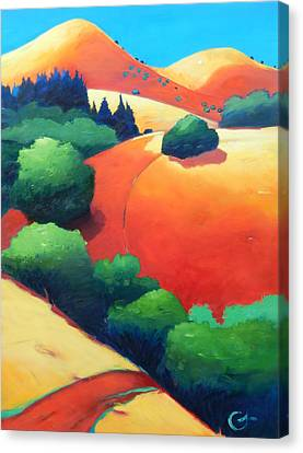 Windy Hill Trip Panel 1 Canvas Print by Gary Coleman