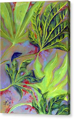 Canvas Print featuring the pastel Windy by Susan Will