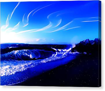 Windy Waterfront At Edmonds Washington Canvas Print by Eddie Eastwood