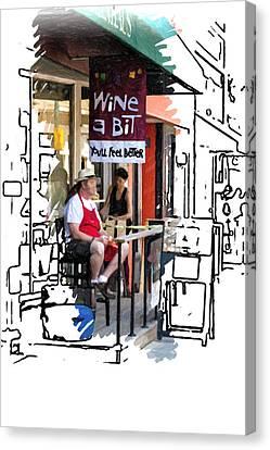 Wine A Bit Canvas Print by John Haldane