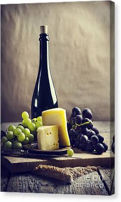 Wine And Cheese Canvas Print by Jelena Jovanovic
