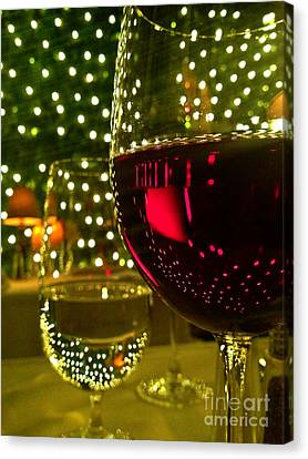 Wine And Lights Canvas Print