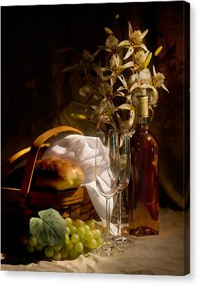 Wine And Romance Canvas Print by Tom Mc Nemar