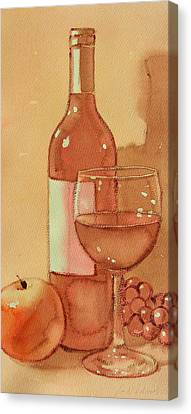 Wine And Sunshine One Canvas Print