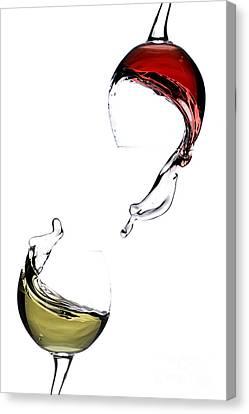 Red Wine Splash Canvas Print - Wine by Andreas Berheide