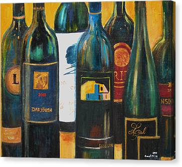 Canvas Print featuring the painting Wine Bar by Sheri  Chakamian