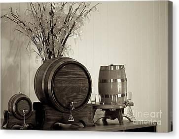 Wine Barrels Canvas Print by Alanna DPhoto