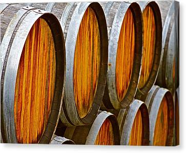 Autum Abstract Canvas Print - Wine Barrels by Michael Blesius