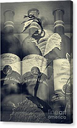 Wine - Beginning And The End Canvas Print by Martin Dzurjanik