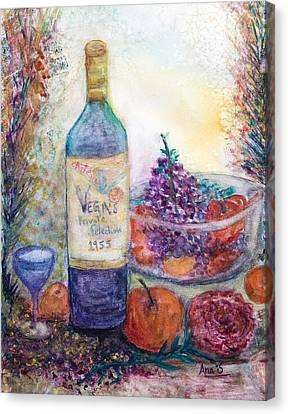 Wine Bottle Selection  Canvas Print by Anais DelaVega