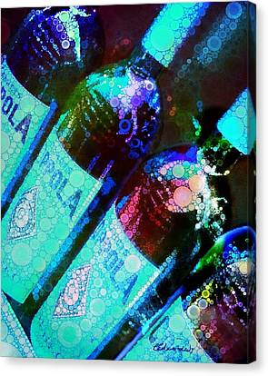 Wine Bottles Canvas Print