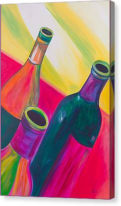 Wine Bottles Canvas Print by Debi Starr