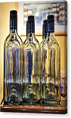 Wine Bottles Canvas Print by Elena Elisseeva