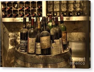 Wine Bottles Canvas Print by Nicki McManus