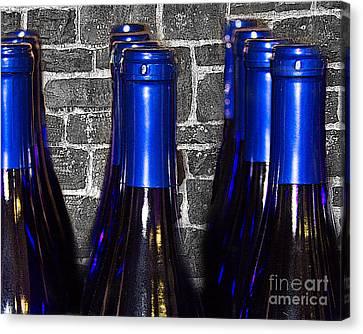 Wine Bottles Canvas Print by Tom Gari Gallery-Three-Photography