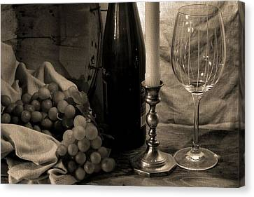 Vino Canvas Print - Wine By Candlelight by Dan Sproul