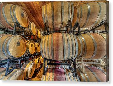 Wine Cask Room  Canvas Print by David Morefield