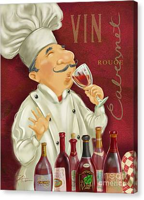 Wine Chef I Canvas Print by Shari Warren