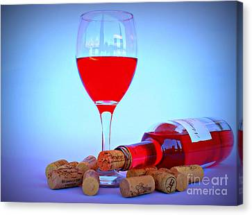 Wine Canvas Print by Clare Bevan